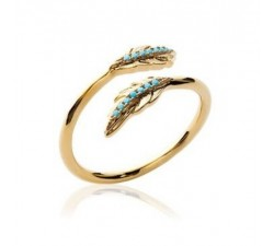 Feather - Gold-Plated Ring