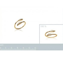 Feather - Gold-Plated Ring-alt