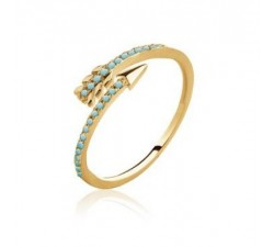 Arrow - Gold-Plated Ring