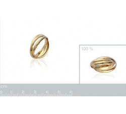 Intertwined Alliance - Gold-Plated Ring-alt