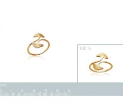 Ginkgo - Gold-Plated Ring-alt