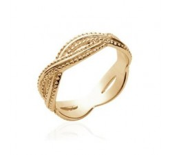 Braids - Gold-Plated Ring