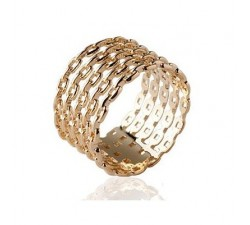 Chain Rows - Gold-Plated Ring