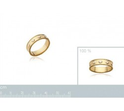Beads Large Zirconia - Gold-Plated Ring-alt