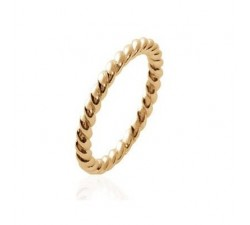 Beads and Twists - Gold-Plated Ring