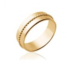 Beads Large - Gold-Plated Ring
